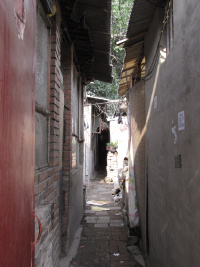 Straatje in een hutong in Peking/Beijing